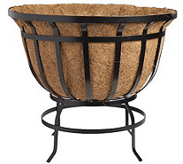 Plow & Hearth Round Steel Coco Basket Planter - H291442