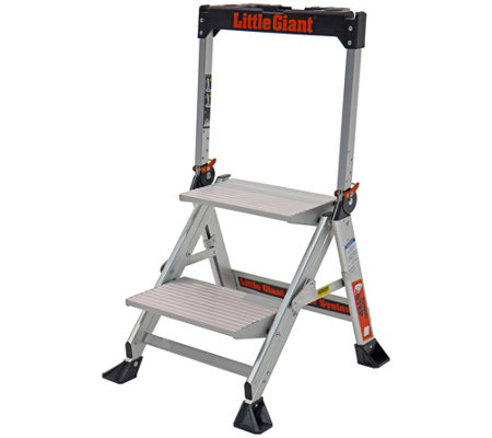 Little Giant Lightweight 2 Step Jumbo AluminumStep Ladder