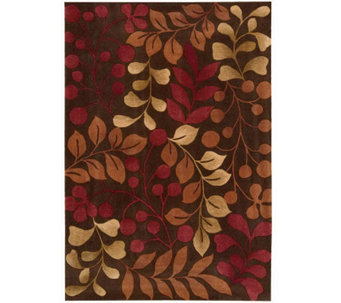"Handtufted 8' x 10'6"" Graphic Leaves Rug by Valerie - H350042"