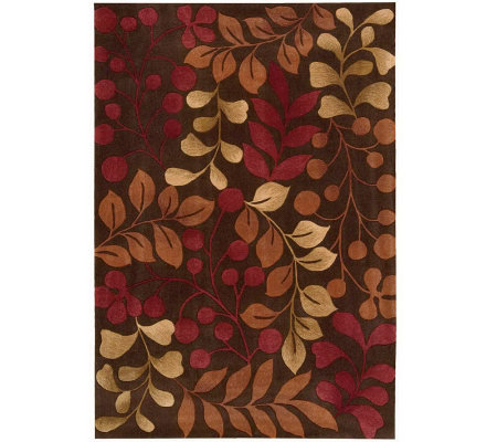"Handtufted 8' x 10'6"" Graphic Leaves Rug by Valerie"