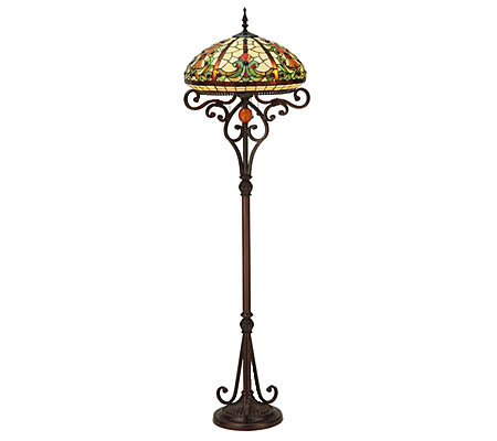 "Tiffany Style 62-1/2""H Baroque Floor Lamp"