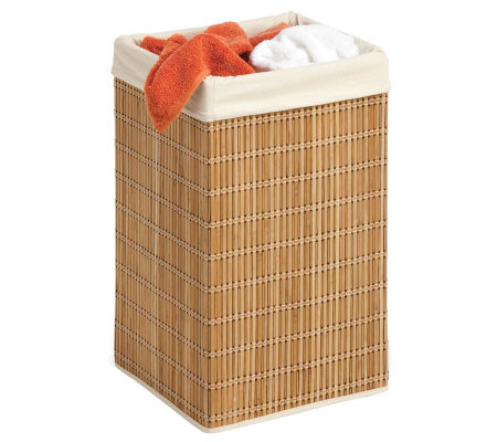Honey-Can-Do Square Wicker Bamboo Hamper