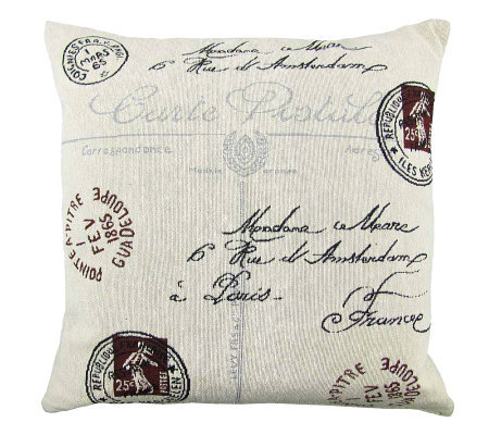 Vintage House Postale 18 x 18 Tapestry Pillow