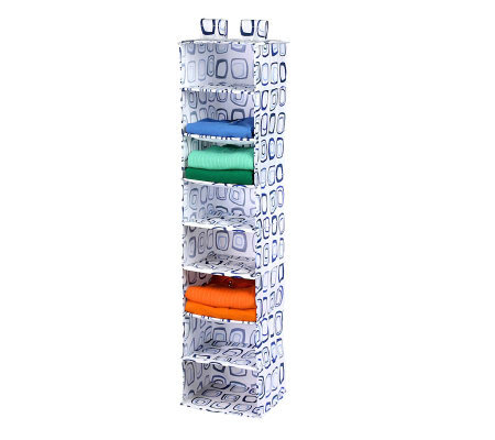Honey-Can-Do 8-Shelf Hanging Organizer - White&Blue