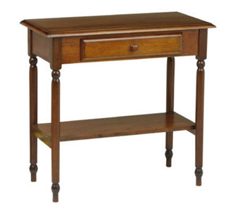 Knob Hill Solid Wood Table w/Drawer & Shelf byOffice Star - H123843