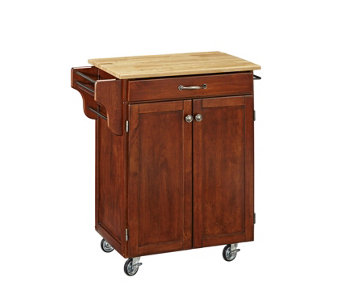 Home Styles Create-A-Cart Cherry Base w/ NaturaWood Top Sm - H150843
