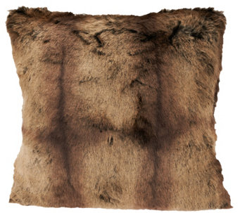 "Dennis Basso Platinum 18""x18"" Luxe Faux Fur Pillow - H203243"