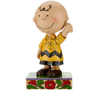 "Jim Shore Peanuts 4 1/2"" ""Good Man Charlie Brown"" Figurine - H206543"