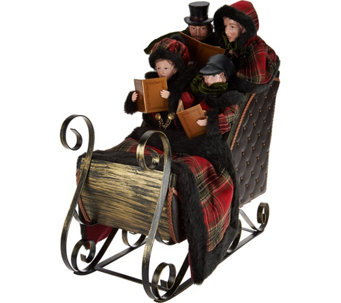 4-piece Dickens Carolers in Sleigh by Valerie - H210043