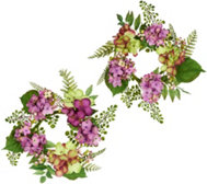 "Set of 2 10"" Hydrangea and Berry Rings by Valerie"