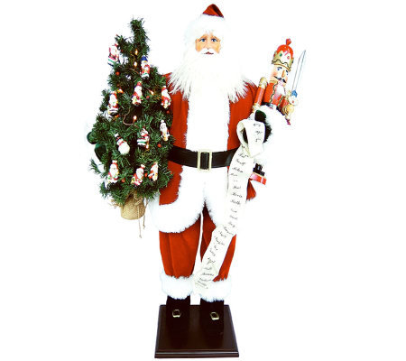 "36"" Santa with Nutcracker and LED Lights by Santa's Workshop"