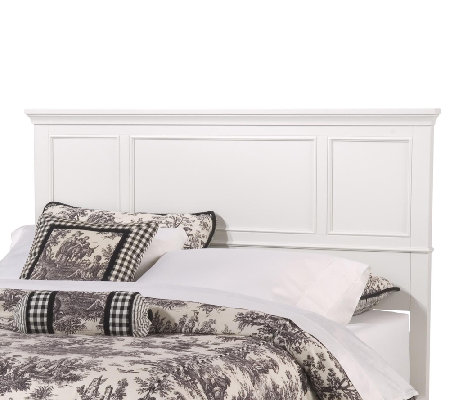 Home Styles Naples White King Headboard