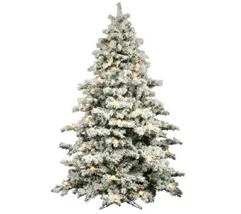 10' Flocked Alaskan Pine Tree by Vickerman - H286443