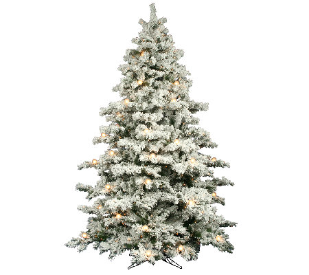 10' Flocked Alaskan Pine Tree by Vickerman