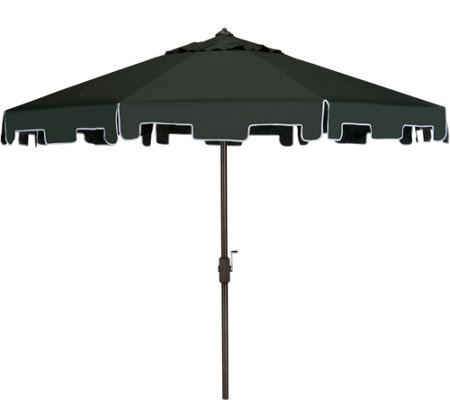 Safavieh Zimmerman 9' Tilt and Crank Market Umbrella w/ Flap