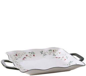 Pfaltzgraff Winterberry Square Platter with Handles - H289943