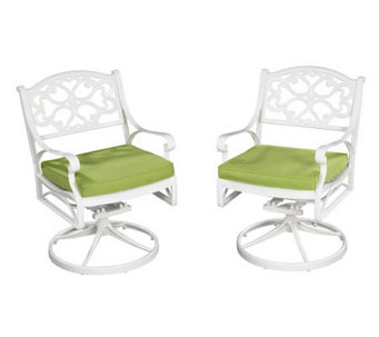 Home Styles Biscayne Outdoor Swivel Chair  w/ Cushion - H358343