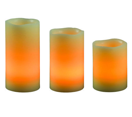 Kenroy Home Remote Flameless LED 3-Piece CandleSet