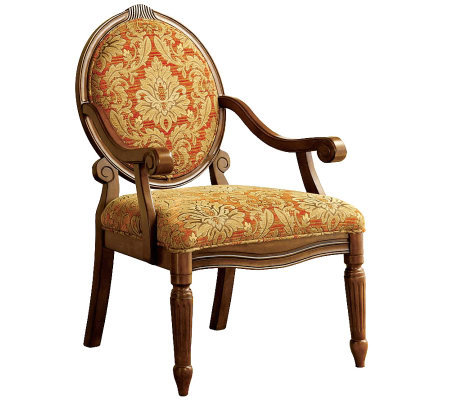 Hammond Antiqued Oak Accent Chair