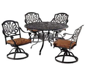 Home Styles Floral Blossom 5-Piece Dining Set w/ Swivel Chairs - H367843