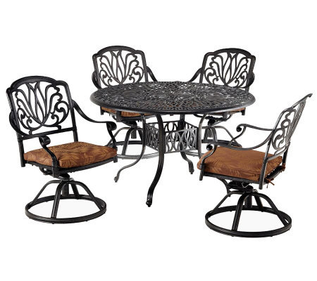 Home Styles Floral Blossom 5-Piece Dining Set w/ Swivel Chair