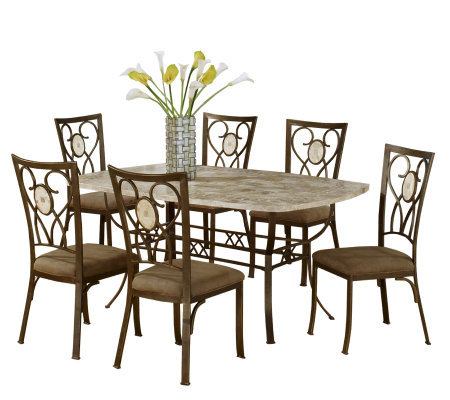 Hillsdale Furniture Brookside 7 Piece Rectangular Dining Set