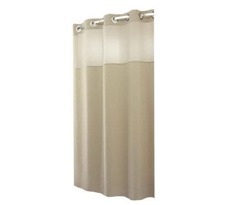 Hookless Plainweave Sheer Window Shower Curtainw Snap