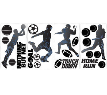RoomMates Sports Silhouettes Peel & Stick WallDecals - H186244