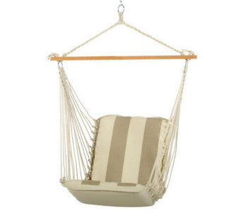 Pawleys Island Cushioned Single Swing - Trellis Garden Stripe - H187044