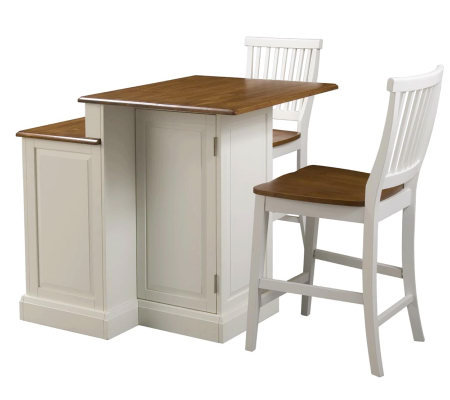 Home Styles Woodbridge Two Tier Island & Two Stools