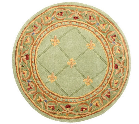 Royal Palace 3 6 Quot Round Fleur De Lis Handmade Wool Rug