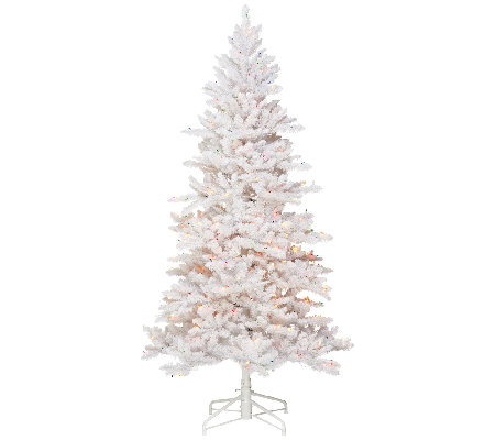 """As Is"" BethlehemLights 5' White Spruce Christmas Tree w/Instant Power"
