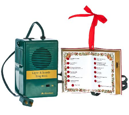 Mr. Christmas Lights & Sounds Song Book with 12 Christmas Classic ...