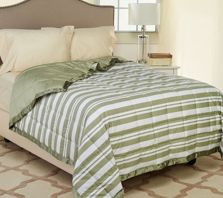 Northern Nights Montauk Stripe 300TC 550FP Reversible TW Down Blanket
