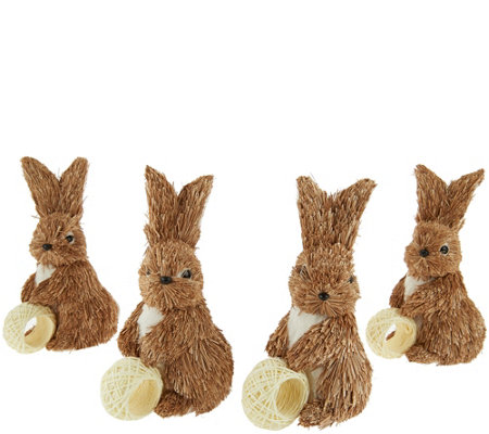 Set of 4 Bunny Napkin Rings by Valerie