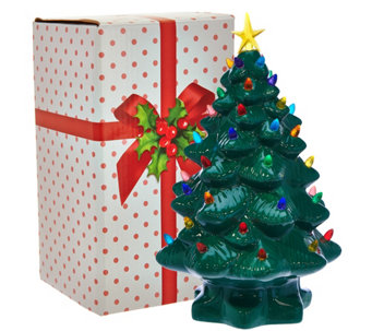 "Mr. Christmas 14"" Nostalgic Tabletop Tree w/ Super Bright LED Lights - H208544"
