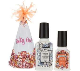 Poo-Pourri 2 oz. Potty On in Party Hat w/ 4 oz. Customer Favorite Scent - H208844