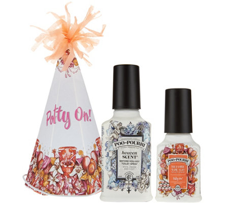 Poo-Pourri 2 oz. Potty On in Party Hat w/ 4 oz. Customer Favorite Scent