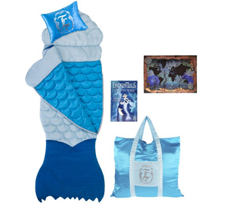 Enchantails Premier Mermaid Slumber Bag with Pillow And Tote Bag