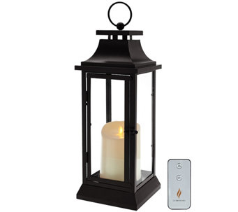 "Ships 1/22/2017 Luminara 16"" Heritage Indoor Outdoor Lantern w/ Candle - H211644"