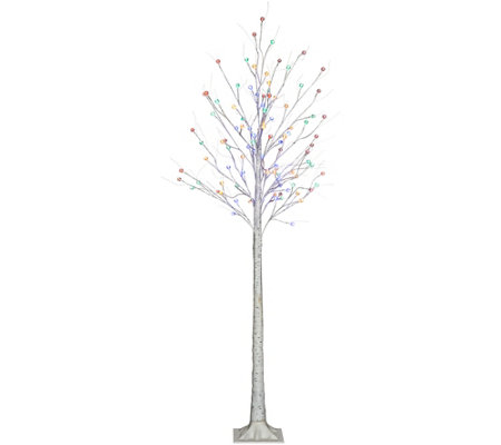 """As Is"" Kringle Express Indoor/ Outdoor Plug-In LED Starlight Birch Tree"