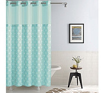 Hookless Prism Shower Curtain with Built-In Liner - H215544