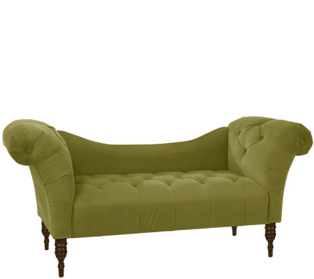 Skyline Furniture Tufted Velvet Chaise Lounge