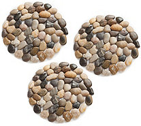 Plow & Hearth River Rock Stepping Stones, Set of Three - H291444