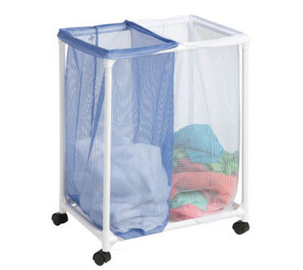 Honey-Can-Do 2 Bag Mesh Rolling Hamper - H356544