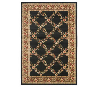 Lyndhurst Open Floral Power Loomed 4' x 6' Rug - H356844