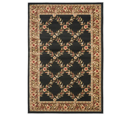 Lyndhurst Open Floral Power Loomed 4' x 6' Rug
