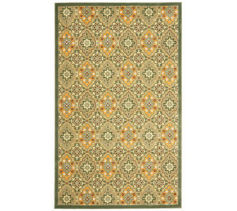 "Treasures Medallions Persian Power-Loomed  5'1""x 8' Rug - H361844"