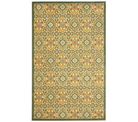 "Treasures Medallions Persian Power-Loomed  5'1""x 8' Rug"