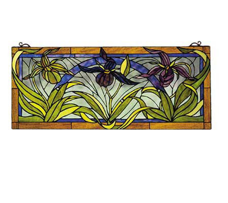 Tiffany Style Lady Slippers Window Panel